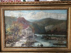 Autumn In The Catskills Oil Painting By Abner N Clemmery 1894 - Price Reduced