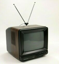 Vintage Emerson Tc0910r Tv Television 9'' Screen With Remote Control And Antenna
