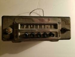 Vintage 1950's Ford Automotive Radio Oem Push Button Am Parts Or Repair