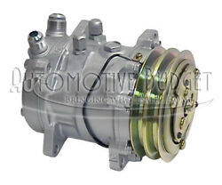 A/c Compressor W/clutch For Sanden 9056 W/vertical Flare Hose Connection - New