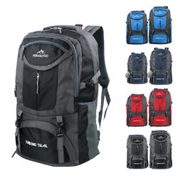 65L 75L Outdoor Backpack Waterproof Shoulder Hiking Bag Camping Travel Rucksack $14.95