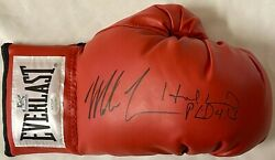 Mike Tyson And Evander Holyfield Signed Right Red Boxing Glove Jsa Tyson Holo S