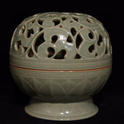 17.2and039and039 China Antique Incense Burner Yue Kiln Porcelain Censer Old Pottery Axzs