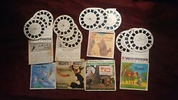 View-master Showtime Lot Winnie The Pooh, Mighty Mouse, Peter Pan, Bambi 4 Sets