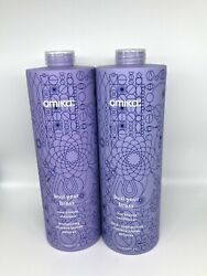 Same Day Ship Amika Bust Your Brass Blonde Shampoo And Conditioner 33.8 Oz/ Liter