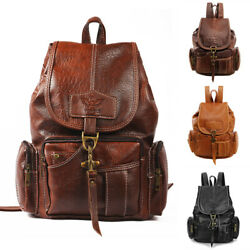 Women PU Leather Backpack Shoulder Satchel Vintage School Travel Bag Rucksack $19.95