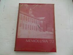 Vintage 1972 Andalusia Alabama Memolusia Yearbook Book Good Cond