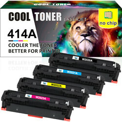 4 Pack Compatible For Hp 414a W2020a Toner Mfp M479fdw M454dw M454dn No Chip