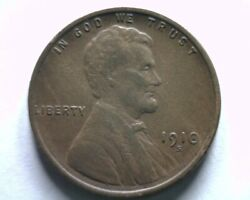 1910-s Lincoln Cent Penny Extra Fine / About Uncirculated Xf/au Nice Coin Ef/au