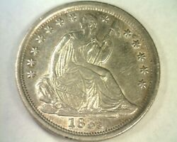 1839-o Seated Liberty Half Dime Repunched 1 And 9 Choice About Uncirculated Ch. Au