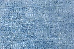 10x14 Blue Handmade Wool And Silk Rug Low-pile Gift Furniture Decor 8533