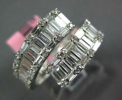 Wide 1.53ct Diamond 18kt White Gold Round And Baguette Invisible Criss Cross Ring