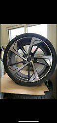 """20"""" Oem Audi Rs5 Forged Black Optic Wheels W/ Continental Sport Contact 6"""