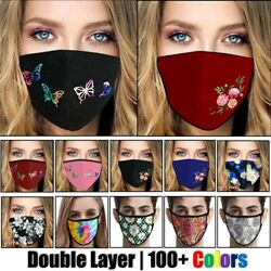 Womens Butterfly Print Cloth Fabric Face Mask Cover Reusable Washable Breathable $7.45