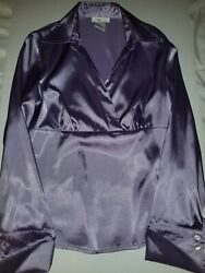Iz Byer California Womenand039s Top Purple Size L Shiny Sleek Party Cocktail Top