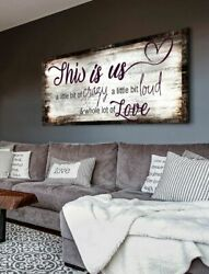 This Is Us A Little Bit Of Crazy Family Wall Art Decor Poster No Frame
