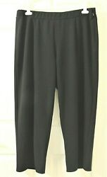 Nwot Womenand039s Vince Camuto Crepe Ponte Front Slit Pant - Black - 20w