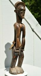 Large Museum 37 Tall Antique Attie Male African Tribal Wood Carving Statue