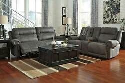 New Living Room Furniture Gray Microfiber Reclining Sofa Couch Loveseat Set If0v