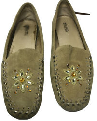 Michael Kors Suede Women's 10 Tan Slip On Moccasin Loafers Shoes $19.89