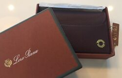 590 Loro Piana Wine Color Leather Set Of Cards Made In Italy