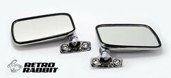 Vw Golf Mk1 Rabbit Scirocco All Metal Chrome Mirror Pair Left And Right Stainless