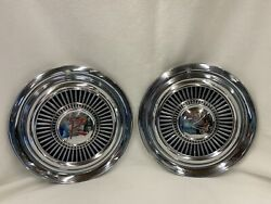 Amc Nash Rambler American Hubcaps 1959 1960 1961 1962 1963 14 Set Of Two 2