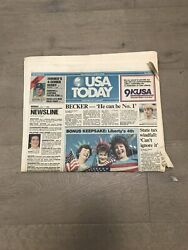 Usa Today July 7 1986 With Special Liberty '86 Section