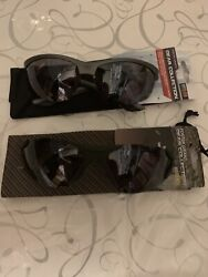 2 Pair Foster Grant Black / Gray Gear Collection Sport Sunglasses W/case Frame