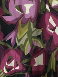 Missoni for Target Reversible Floral Chevron Fabric Shower Curtain Reversible