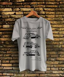 1934 Lasalle Automobile Patent Print Vintage T-shirt Size S-xxl Made In Usa