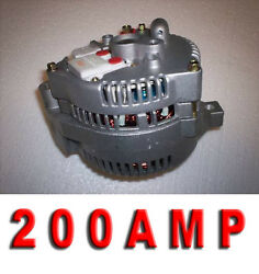 1 One Wire 200 High Amp Ford Mustang 3g Large Case Alternator 1965 88 90 91 1993