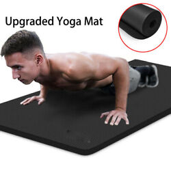 Luck-fitness Yoga Mat Non-slip 10mm Pad Sport Home Workouts Pilates Gym Exercise