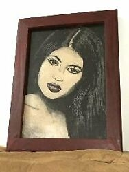 Kylie Jenner Sand Handmade Portrait/ Only One Piece Made