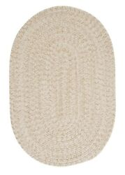 Tremont Natural Tweed Wool Blend Country Farmhouse Oval Round Braided Rug