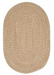 Tremont Evergold Tweed Wool Blend Country Farmhouse Oval Round Braided Rug