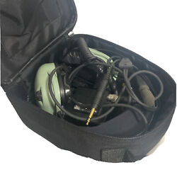 David Clark H20-10x Avaiation Headset With Carrying Case And Accessories - As Is