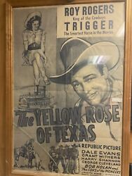 Roy Rogers And Trigger Vintage 1949 Down Dakota Way 2 Sided 11 X 17 Movie Poster