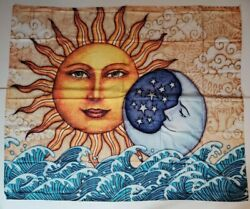 Hippie Bohemian Sun Moon Tapestry Wall Hanging Decor 59quot;x 51quot; USA SELLER NEW