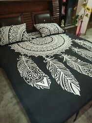 Dream Catcher Boho Duvet Cover Queen Indian Quilt Cover Cotton Doona Cover Throw