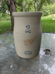 Red Wing Union Stoneware Butter Churn 2 Gallon Crock No Cracks Or Chips