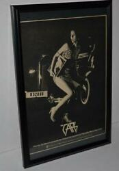 The Cars 1978 Rare Lyceum Early Tour Concert Framed Promotional Poster / Ad