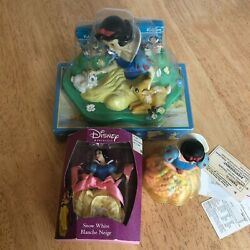 Snow White Disney Lot Candy Figurine, Hanging Ornament And Floating Soap Dish Nos