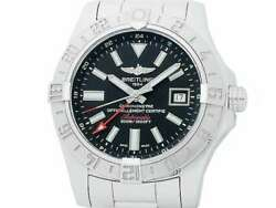 Free Shipping Pre-owned Breitling Avenger 2 Gmt A32390 Black Dial Watch