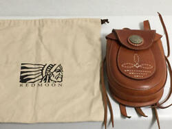 Red Moon Medicine Bag Purse Case Leather Brown Redmoon In Good Condition F/s