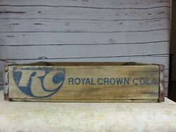 Very Rare Rc Royal Crown Cola Blue Lettering 1974 Beverage Soda Crate Tennessee