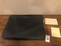 "NWT Michael Kors Connie Padded Laptop Case Up To 15"" MK Signature Design $79.95"