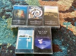 The Moody Blues 5 Cassette Lot Rock Question Of Balance Seventh Sojourn Vg