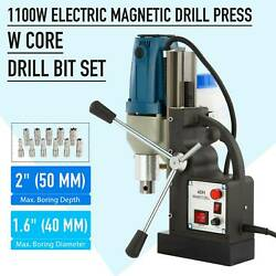2020 Magnetic Base Drill Force Tapping Press Boring Magnet 1100w 12000n 2 Depth