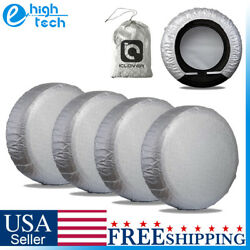 25- 27 Waterproof Wheel Tire Covers Sun Protector For Truck Car Rv Trailer Suv